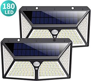 paquete de 4 Luz solar exterior 3 Modos】SEZAC Luces de seguridad solar Luces de sensor de movimiento solar Impermeable 65 Luces al aire libre para jard/ín Cerca de garaje 【208 LED