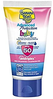 Banana Boat BABY Advanced Protection MINI - Crema Solar Protectora Anti-Arena para Bebés con Protección Alta SPF 50- MINI Loción 60 ml