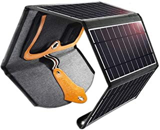 CHOETECH Cargador Solar- 22W Panel Solar Cargador Portátil Impermeable Placa Solar Power Bank Compatible con Teléfonos Samsung- iPhone- Huawei- iPad- Altavoz- Cámara- Tableta- Altavoz Bluetooth etc.