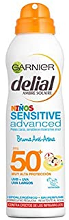 Garnier Delial Niños Sensitive Advanced Spray Protector Solar Anti-Arena para Pieles Claras- Sensibles- Alta Protección IP50+ - 200 ml