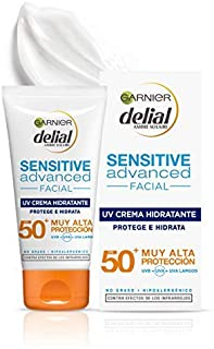 Garnier Delial Sensitive Advanced Crema Facial Hidratante Alta Protección Solar IP50+ - 50 ml