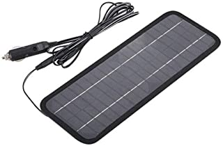 Glomixs Solar Panel 12V 5W Battery Charger System Portable Maintainer Marine Boat Car New-1x Solar Power Battery Charger