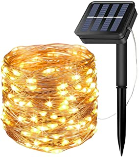 Grandwill Solar String Lights- 72 Feet 200 LED Copper Wire Lights- fairy String Lights- Indoor-Outdoor Waterproof Solar Decoration Lights for Garden- Home- Dancing- Holiday- Party (Warm White)