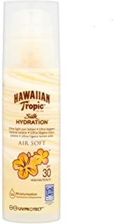 Hawaiian Tropic Silk Air Soft SPF 30 - Crema Solar Ultraligera con Lazos de Seda- 150 ml