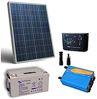 Kit Solar Cabina Pro 80W 12V Placa Panel Inversor Regulador MC4 Bateria 38Ah