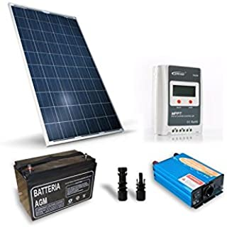 Kit Solar Refugio Base 250W 12V-sistema fotovoltaico independiente