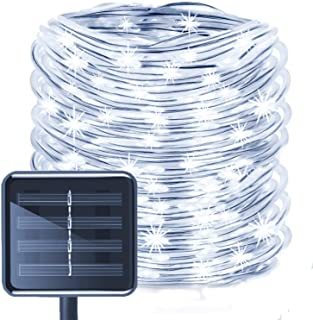 Solar Rope Lights- EONANT 39ft - 12M 100LED Impermeabilice las Luces de Cadena de Alambre de Tubo de Cobre para Jardín- Patio- Camino- Cerca- Escaleras- Patio Trasero- Patio Decorativo