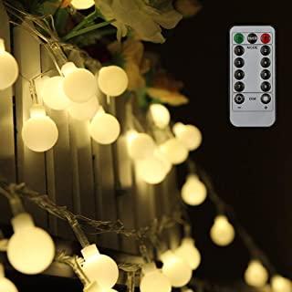 Luces de Navidad Impermeables de 12 metros y 100 LED 8 Modos de Iluminaci/ón Konesky Luces Solares de Cadena al Aire Libre Decorativa para Patio Fiesta encendido//apagado Autom/ático Boda Navidad