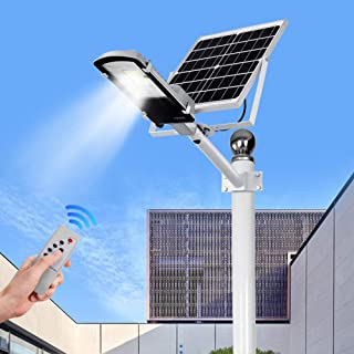 Ultra Potente Farolas Solares Exterior-Impermeable IP65 LED Luz Solar 40W~400W-con Soporte Ajustable Y Control Remoto Solar Security Lights Para Calle-patio-jardín Etc. (1 Pack)-40W-3600~4000lm