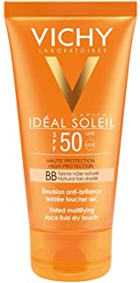 Vichy Ideal Soleil Protector Solar BB Toque Seco Fluido con Color FPS 50- 50 ml
