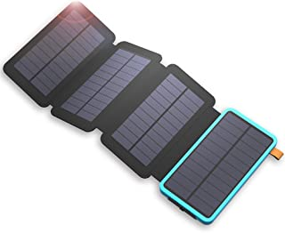 X-DRAGON Solar Power Bank 20000mAh Cargador Paneles Solar USB Dual- Linterna LED Batería Externa para iPhone X-8-8 Plus-7- iPad- Samsung Galaxy- Android- Huawei