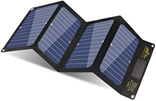 BigBlue 24W Cargador Panel Solar con 3 USB Puertos (5V-4A MAX Total) SunPower Solar Panel Plegable para iPhone- iPad Mini- Galaxy- Huawei- Xiaomi- Android- GoPro Etc