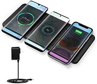 Cargador Inalambrico Rapido- JE 30W Qi Fast Wireless Charger para iPhone 11-11 Pro-11 Pro Max-XS MAX-XR-XS-X-8Plus-8- Airpods- Samsung Galaxy Serie- Xiaomi- Huawei