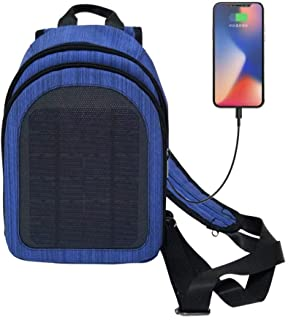 CplaplI Outdoor Equipment & Tools- 5 V Outdoor Travel Waterproof Solar Panel Backpack USB Charging Shoulder Bag Exterior Negro cargador de dispositivo movil
