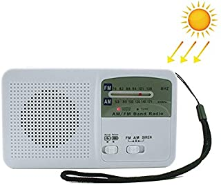 Durable Manivela Manual Radio de energia Solar Autogenerador Cargador de telefono Linterna LED Supervivencia de Emergencia (Blanco) Durable (Color : Blanco)