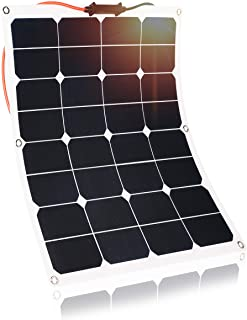 Kingsolar 50W Durable ETFE Semi Flexible Panel Solar Cargador de bateria para automovil- barco- caravana- etc.