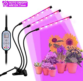 Lampara LED Plantas Crecimiento Interior YOUTHINK 36W Luz Cultivo Grow Lights Indoor Luces Dimmable (Enchufe EU de 2 Pin) [Clase de eficiencia energetica A+++] (36W)
