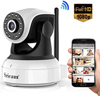 Sricam Ultima version SP017 Camara WiFi interior de vigilancia 1080P inalambrica IP camara- objetivos giratorios- audio bidireccional- modo noche a infrarrojos- compatible con iOS Android PC