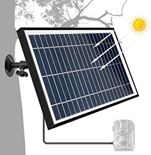 TRAIL WATCHER Solar Panel Charger 12.1V 5.5W DC Puerto Exterior Impermeable para Camara de Seguridad Wild Camera Speaker DVD DC Equipment