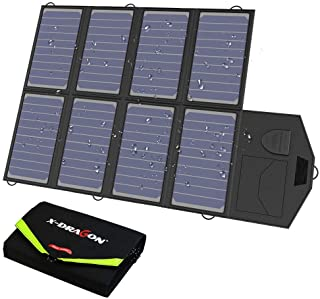 X-DRAGON 40W Cargador Panel Solar (Placa Solar Pegable y Doblado 18V DC- 5V USB salida- Para Moviles- Tablets- Dispositivos Digitales)