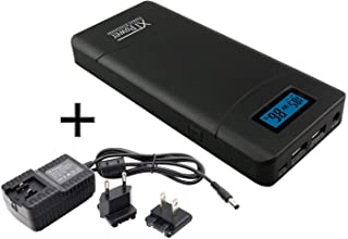 XTPower® XT-20000QC3 Powerbank - High Performance USB e DC Batteria con 20100mAh- Incluye Cargador - 1x USB 2.1- 1x USB QC3 e uscita DC 12V 15V 16.5V 19V 20V 24V 65W MAX.